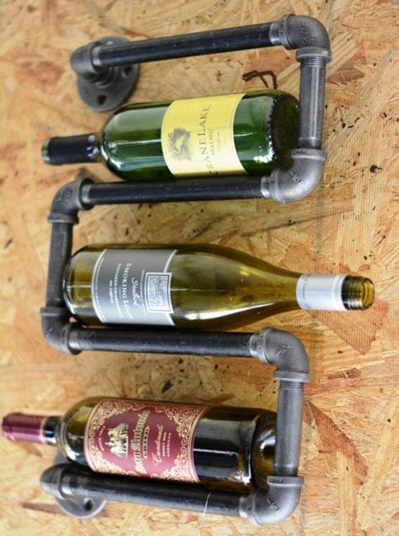 Industrial Plumbing Pipe Wine Rack