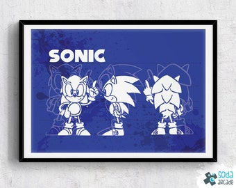 SALE: Sonic the Hedgehog Classic Sonic print/poster