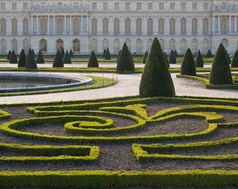 Paris photography, Versailles garden, estate garden, green, formal garden, French wall art, Paris decor, home decor, fine art print