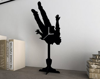 Falling Man - Silhouette Table Clock