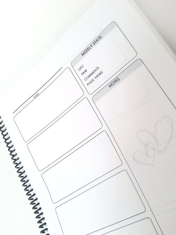 Customized Blogging and Meal Planner - Yearly