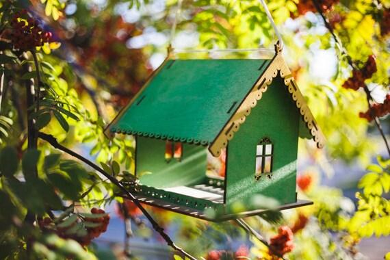 Bird feeder,bird house,wooden bird feeder,garden decoration,hanging bird feeder,large bird feeder,wooden,hand crafted,birdfeeder,handmade