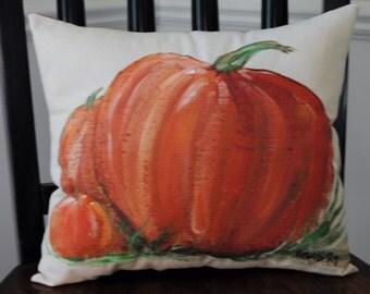 Handpainted Pumpkin Pillow