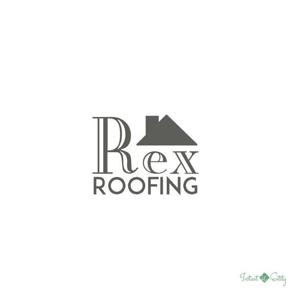 Premade roofing roofer logo dark natural for Premade roof