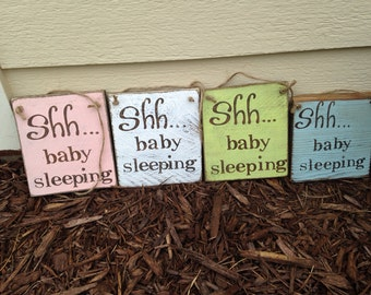 Shh…Baby Sleeping Sign