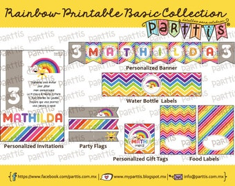 Rainbow Party Printable Collection BASIC