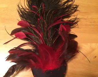 Black and Red Fascinator