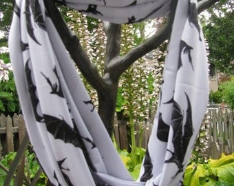 Bats Infinity Scarf made from Very Soft Performance Knit