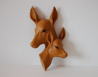 Vintage Fawn / Deer wallhanger wall