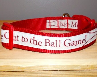 Take Me Out To The Ball Game Dog Collar