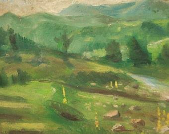 Antique Impressionist Oil Painting, Landscape