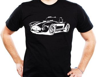 Man's Car T-shirt AC Shelby Cobra 427 old school car retro roadster gift AUT047