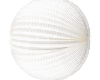 "Water Melon/Accordion Lanterns White 12"""