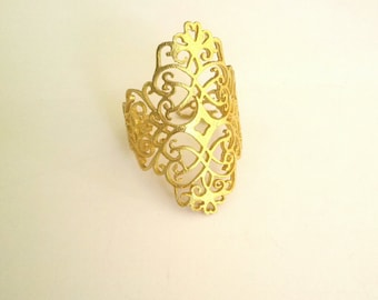 Vintage ring gold plated
