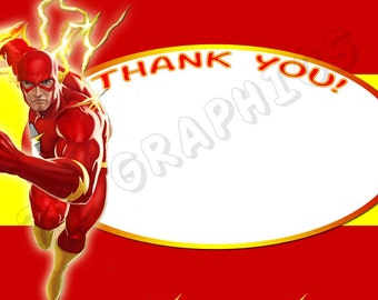 Flash 4x6 Thank You Card - Printable