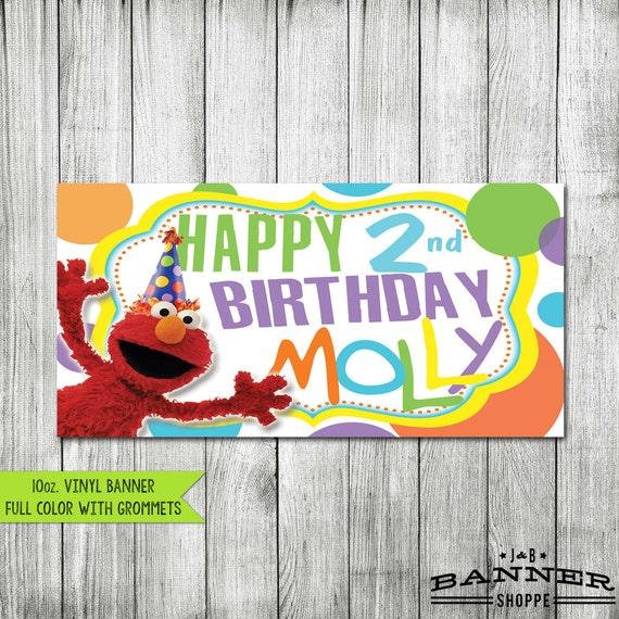 Sesame Street Banner Vinyl Elmo Banner By JandBBannerShoppe