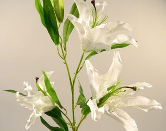 Casablanca Lily in White - 44'' Tall