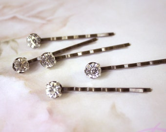 Bridal Rhinestone bobby pin, headpiece - A set for five, Ready to Ship