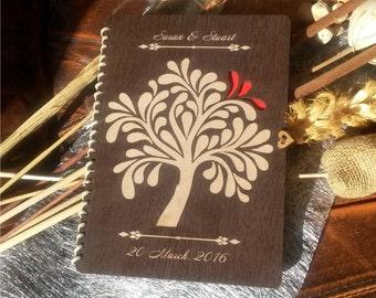 Custom Wedding guest book wood; rustic wedding guest book ;engraved wooden guest book, laser cut wedding guest book, anniversary guest book