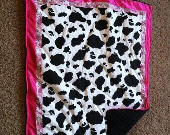 Cow print quilt