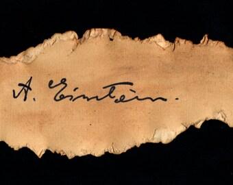 Reproduction of Albert Einsteins Signature - Vintage Science Art - Einstein