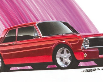 1965 Ford Falcon 2dr Project Car 12x24 inch Art Print by Jim Gerdom