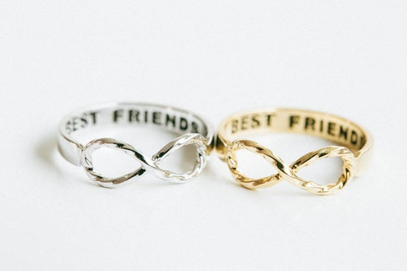 Twisted infinity best friend ring,best friend infinity rings,best friends rings,graduation rings,infinite rings,unique ring,cute ring,SKD225