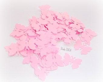 120  Pink  small Butterfly Confetti, Cut-outs, or Choose your Colors- Set of 120 pcs