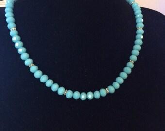 Brilliant Turquoise Blue Bead Necklace