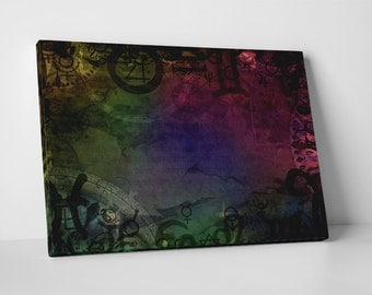 Astrology Signs. Gallery Wrapped Canvas Print