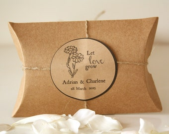 Let Love Grow 20 Rustic Wedding Favors with Love In A Mist flower seeds