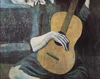 handmade pablo picasso oil painting reproduction the old guitarist painting on canvas for home decor item