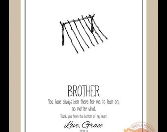 Wedding Gift For Brother Best Man : ... Brother Wedding Gift for Brother Birthday Gift Brother In Law Best Man