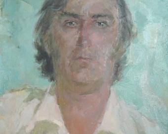 1983 Man portrait oil painting signed