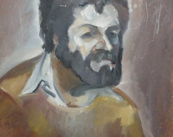 Male portrait oil painting expressionism