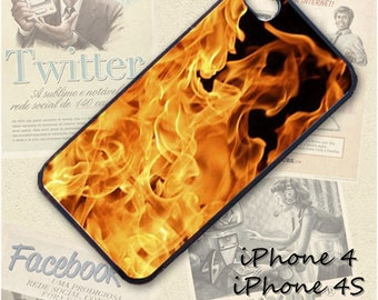 Fire flames cell phone Case / Cover for iPhone 4, 5, Samsung S3, HTC One X, Blackberry 9900, iPod touch 4 / 274