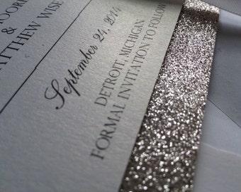 Glitter Save-The-Date