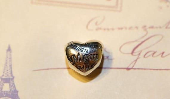 Pandora charm, 925 silver, heart mama
