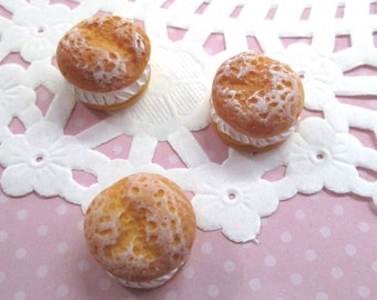 Miniature Cream Puff Pastry Kawaii Decoden Cabochon, #090b