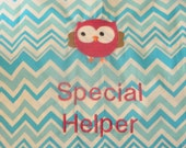 Owl & Chevron Special Helper Chair Pocket (1 Chair Pocket)