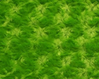 Minky - lime rose  - sold in 1 yard increments