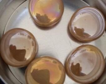 Caramel, Aquamarine & Teal Glass Magnets - Set of 5