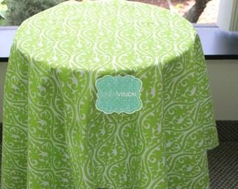 Tablecloth - Premier Prints - KIMONO Damask - Chartreuse - Choose Your Size - Table Linen Wedding Home Decor Dining Kitchen