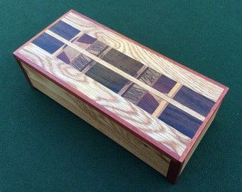 Handcrafted Exotic Hardwood Keepsake Box