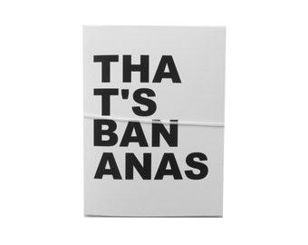 thats bananas note card