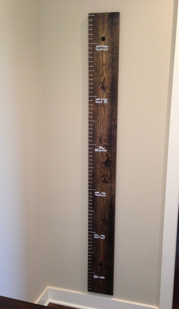 Oversized Wooden Ruler Growth Chart Rebellions