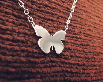 Little Butterfly Silhouette Necklace Lepidoptera