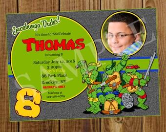 TMNT Birthday Invitation
