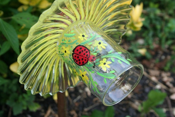 upcycled glass garden ornaments glass garden by