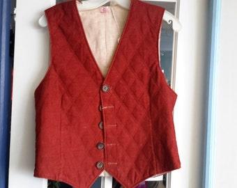 reversible mens 1970s vest!!!